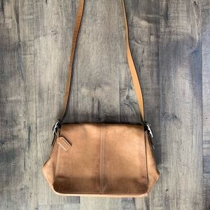 Authentic Coach leather crossbody bag.